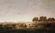 Theodore Rousseau Marsh in the Landes oil painting reproduction